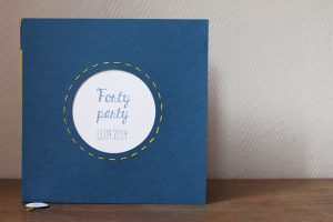 Carnet d'anniversaire « forty party »