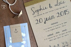 Faire-part Kraft & confettis
