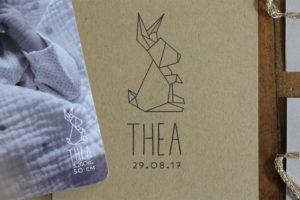 Faire-part origami Théa