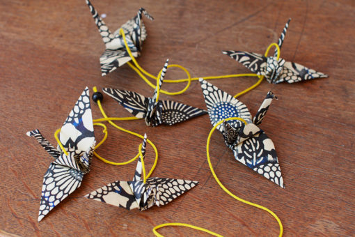 guirlande origami sur-mesure